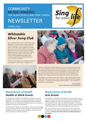 Click to download Sing for your life Spring 2010 newsletter